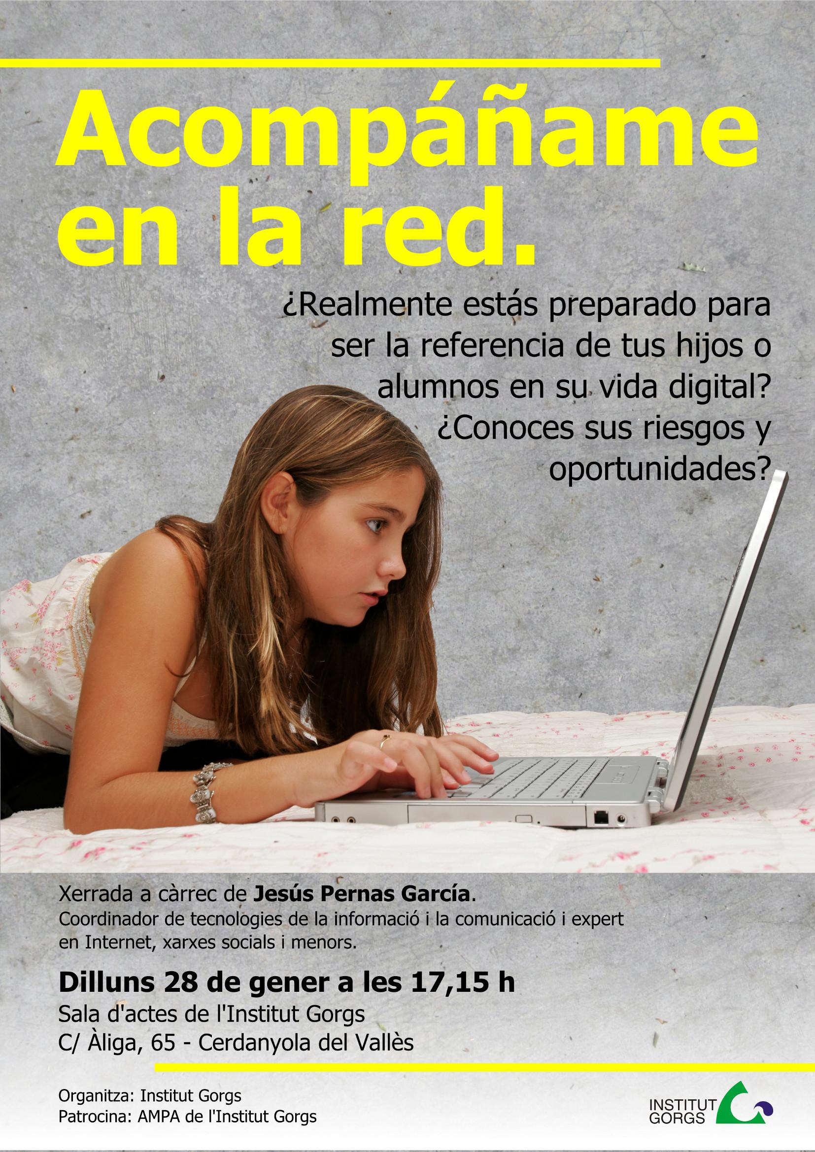 cartell xerrada Internet i menors