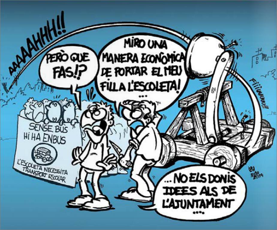 Còmic Movilitzacions Transport Escolar