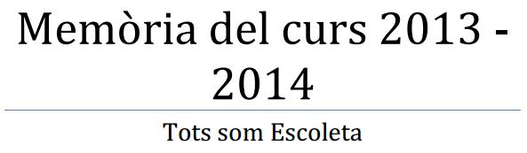 Memoria Curs 2013-2014