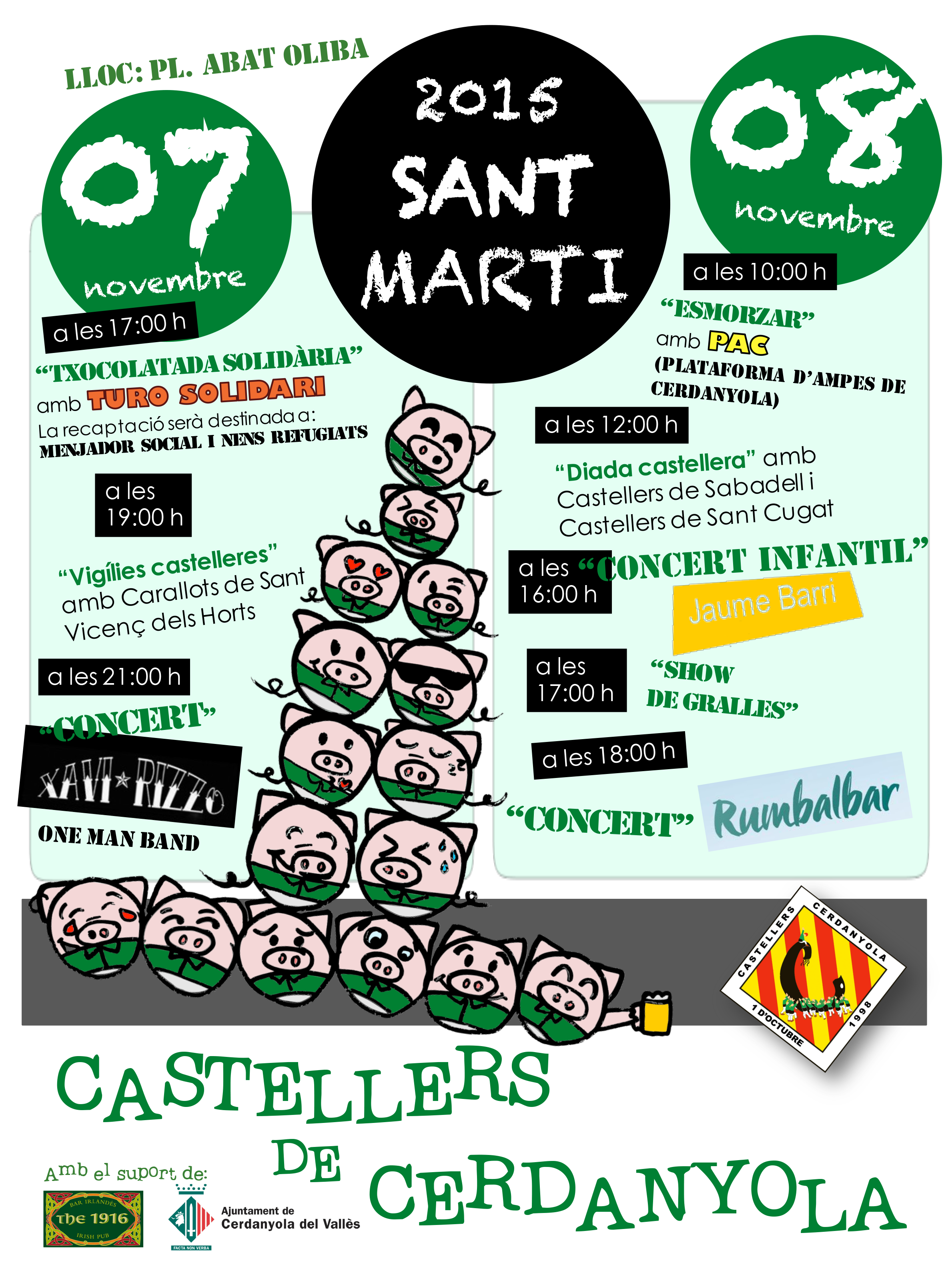 Cartell Sant Marti Diada Castellera