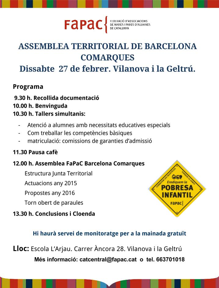 cartell programa assemblea territorial barcelona-27F-vilanova