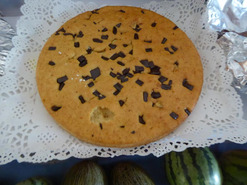 Pastís de trossets de xocolata
