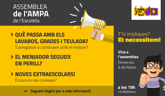 Assemblea AMPA 6 de febrer de 2019